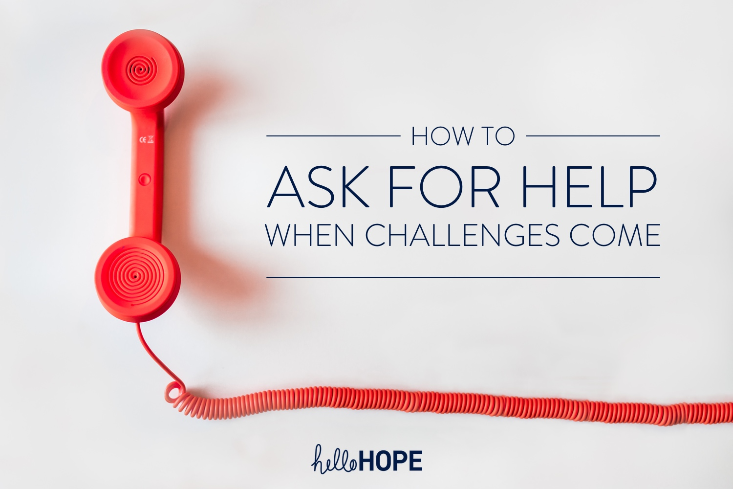 Red telephone on white background | How to Ask for Help When Challenges Come
