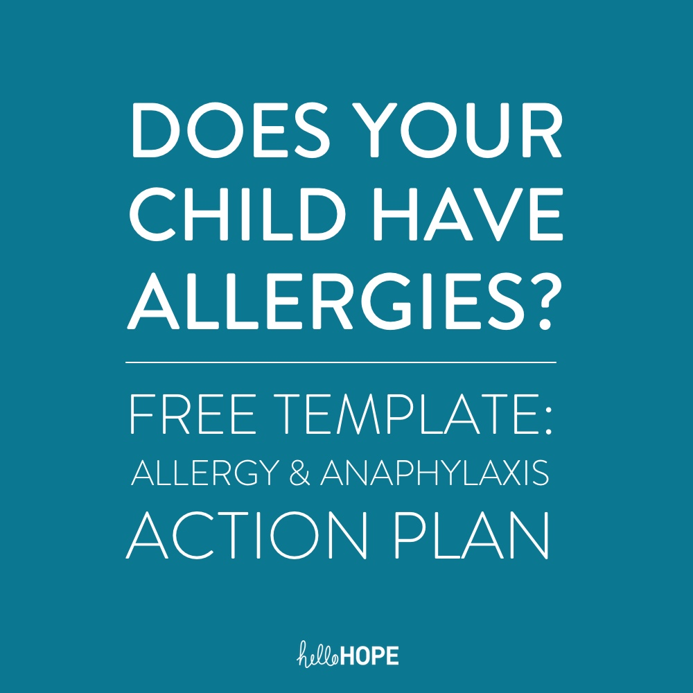 Emergency Allergy and Anaphylaxis Plan Template | helloHOPE