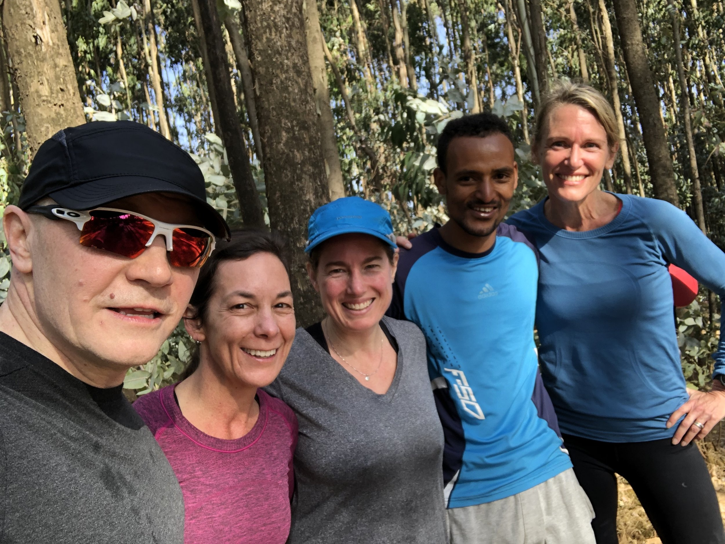Post-run smiles with our guide.