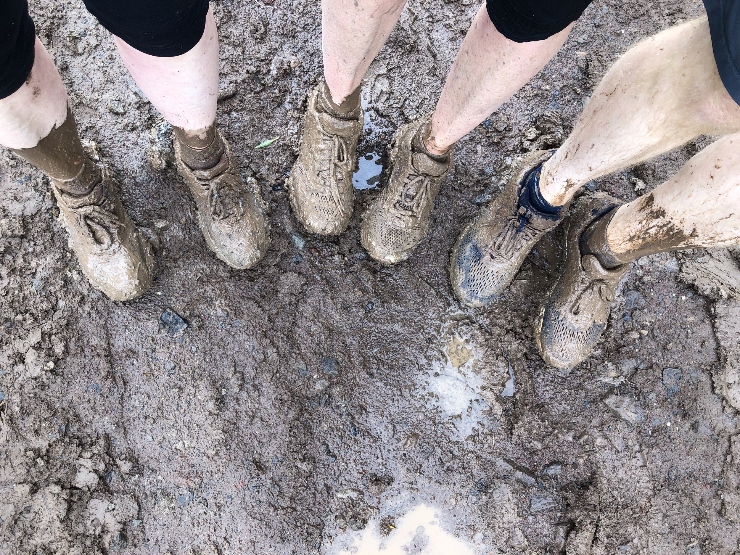 No one lost a shoe. But we all sunk down to mid-calf at some point.