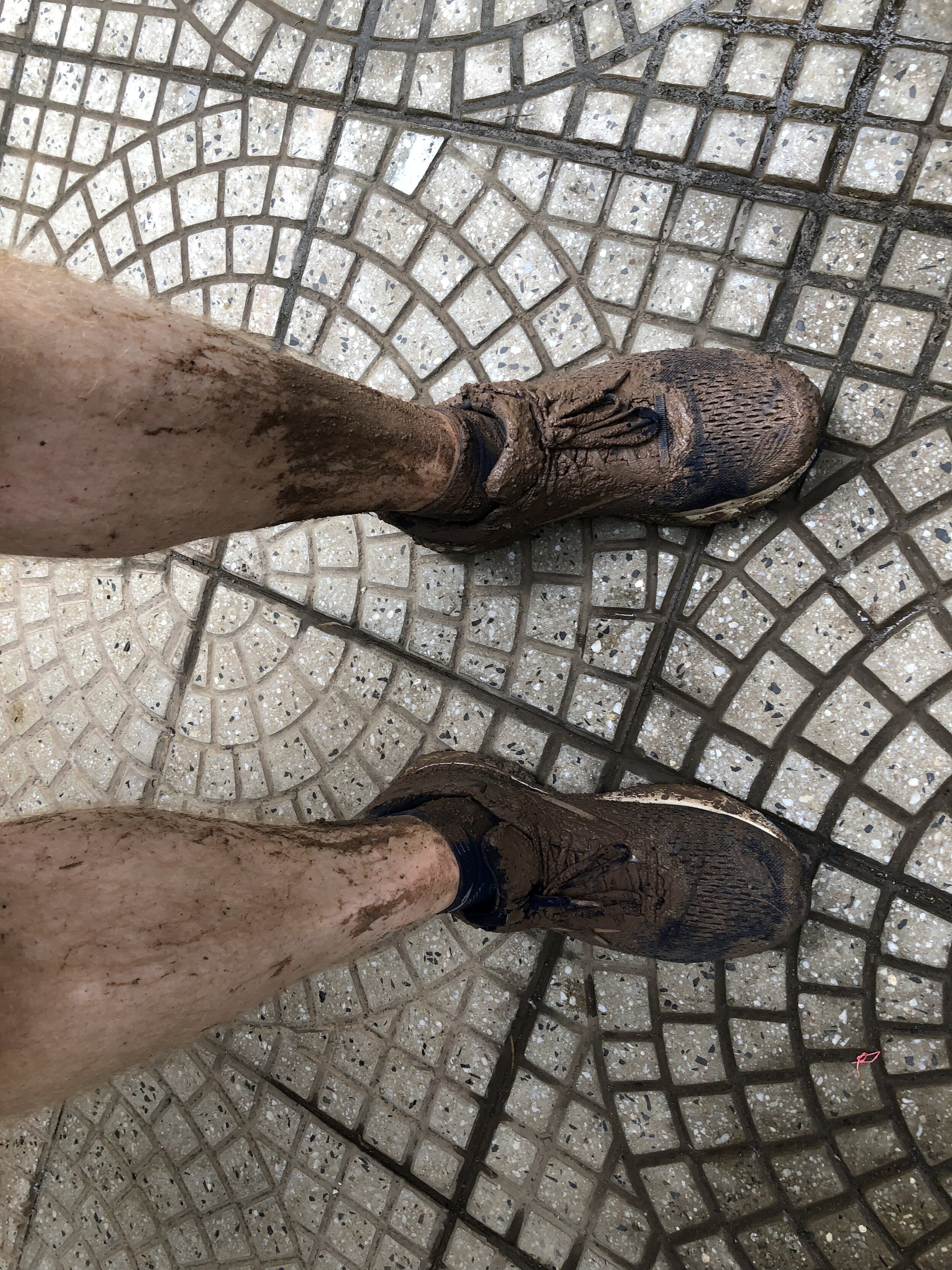 I found a few good puddles on the streets near home to lessen the burden.
