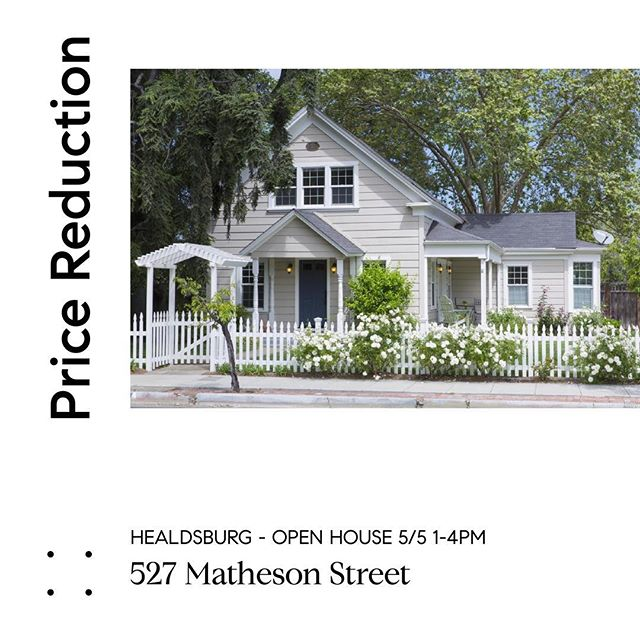Iconic Healdsburg home now priced at $1,725,000!  For more info visit: 527Matheson.com #healdsburg #sonomacounty #compass