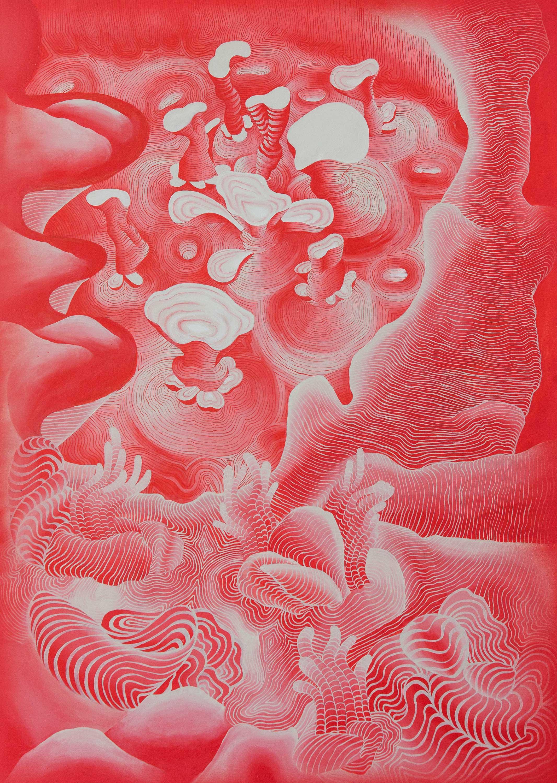 Oceano. Acrylic on canvas. 150 x 100 cm