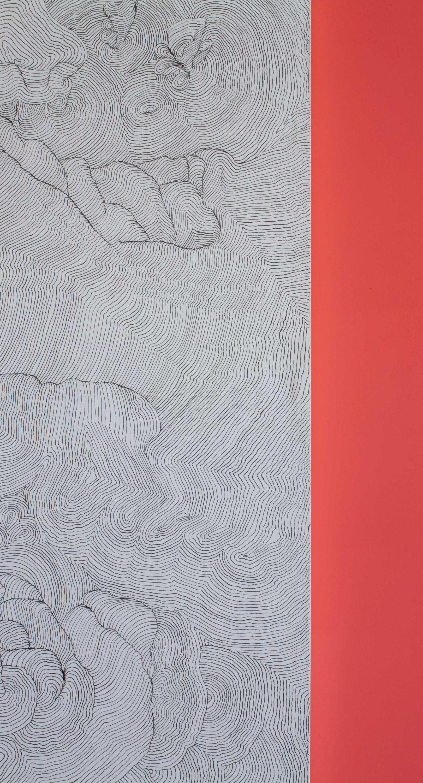 landscape (Detail). Acrylic on canvas. 150 x 100 cm