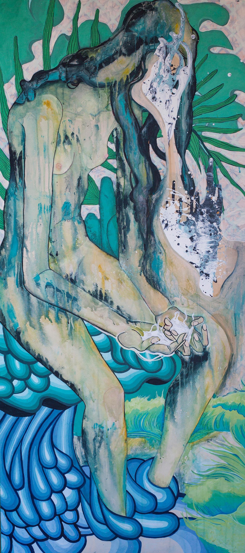 Acrylic on canvas. 165 x 90 cm