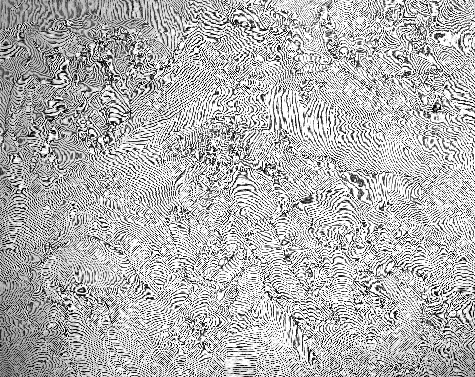 Landscape. Acrylic on canvas. 120 x 90 cm