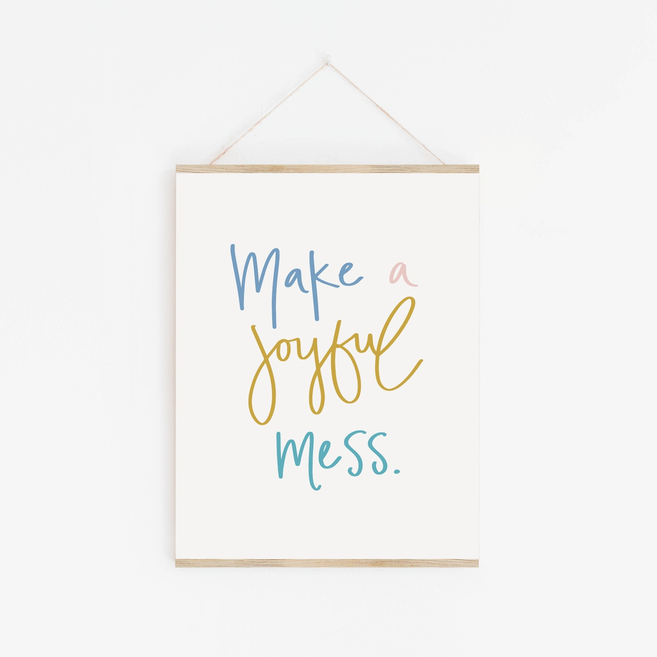 Make a Joyful Mess - Comes in 3 different color variations to remind you and your family that messes can be creative, fun and joyful. Designed to go with The Daily Tidy for Kids, and also available when you purchase the digital workbook.