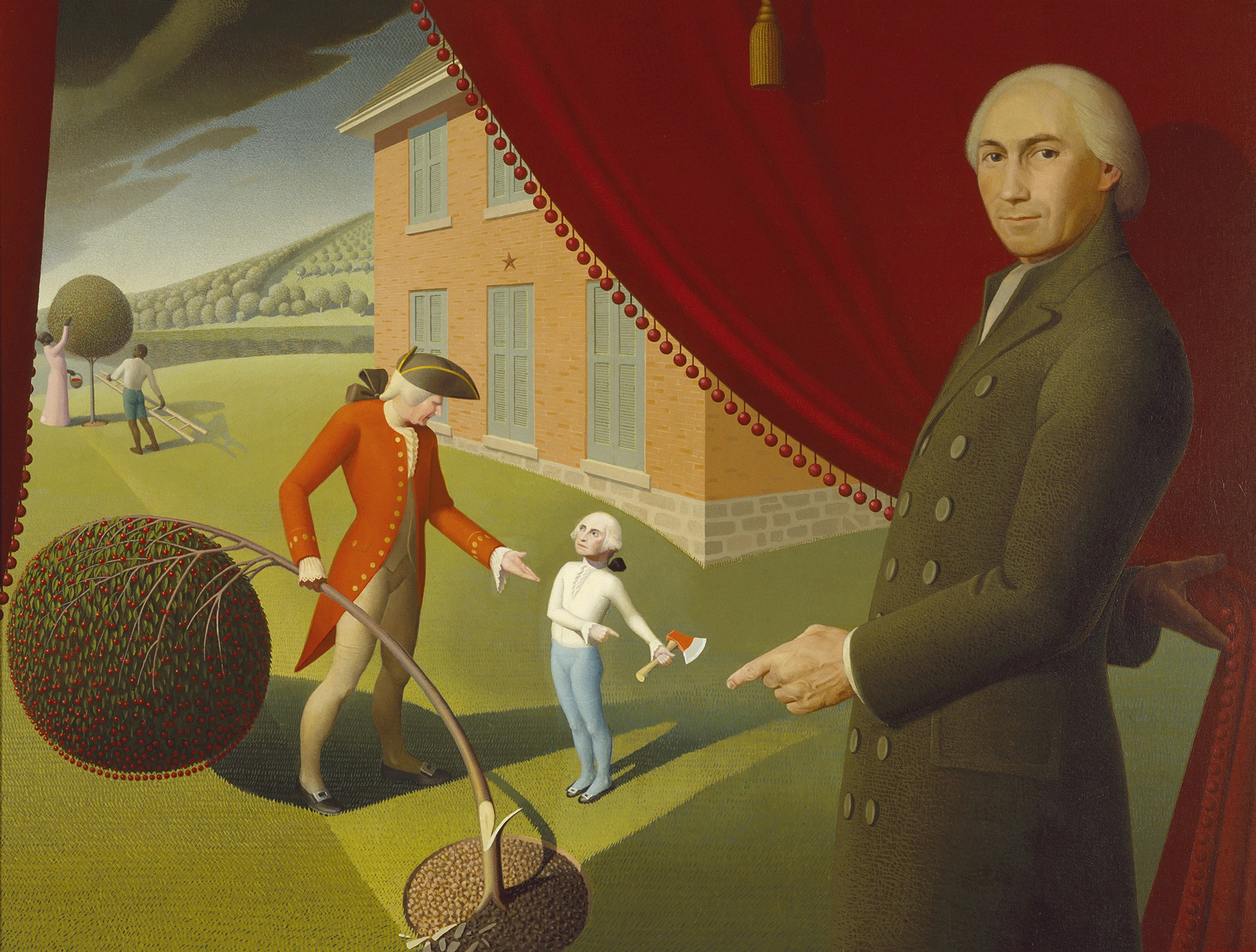 Grant Wood,  Parson Weems' Fable