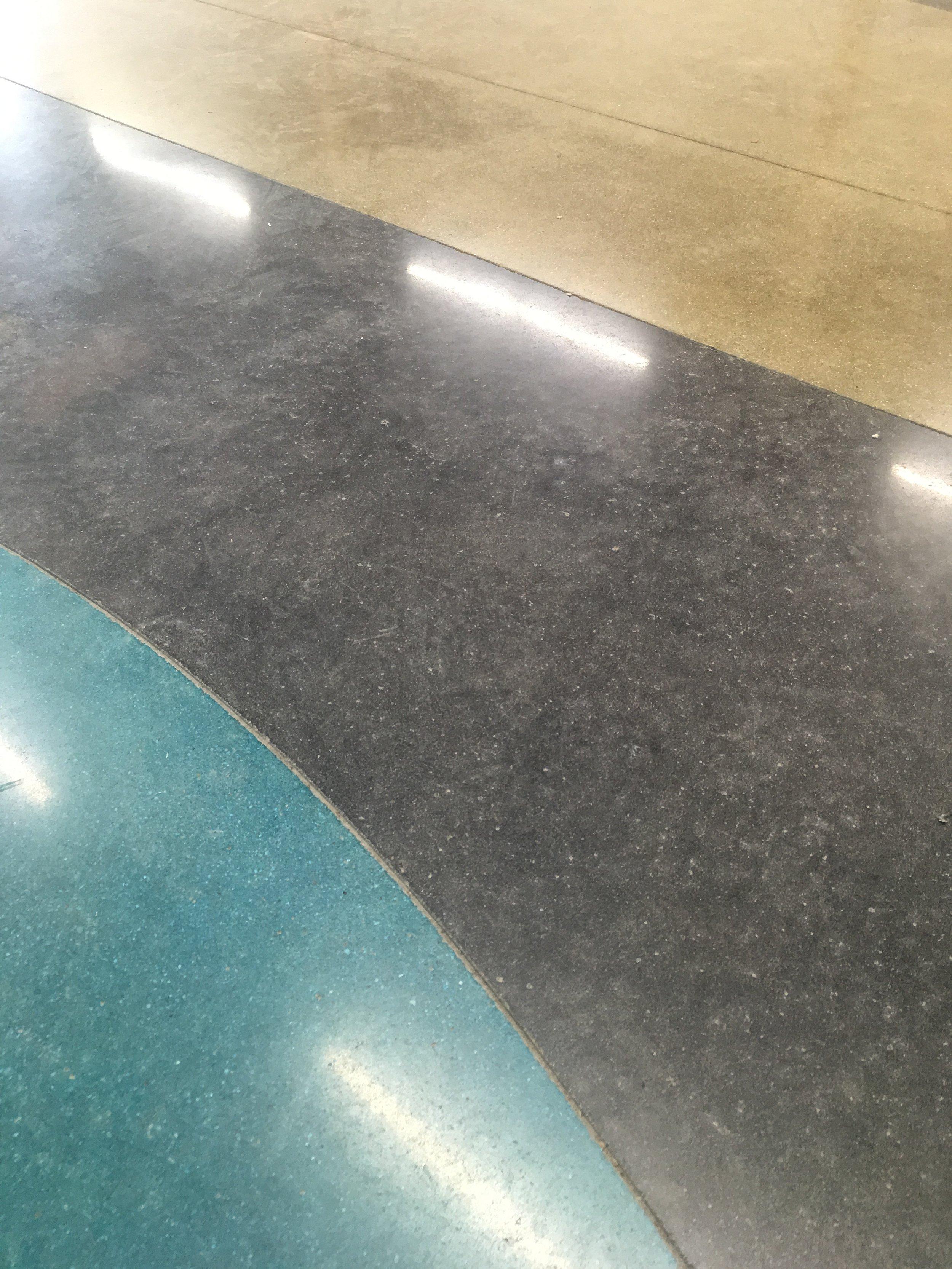 Showroom Floor Turqoise, Black, Sand.JPG