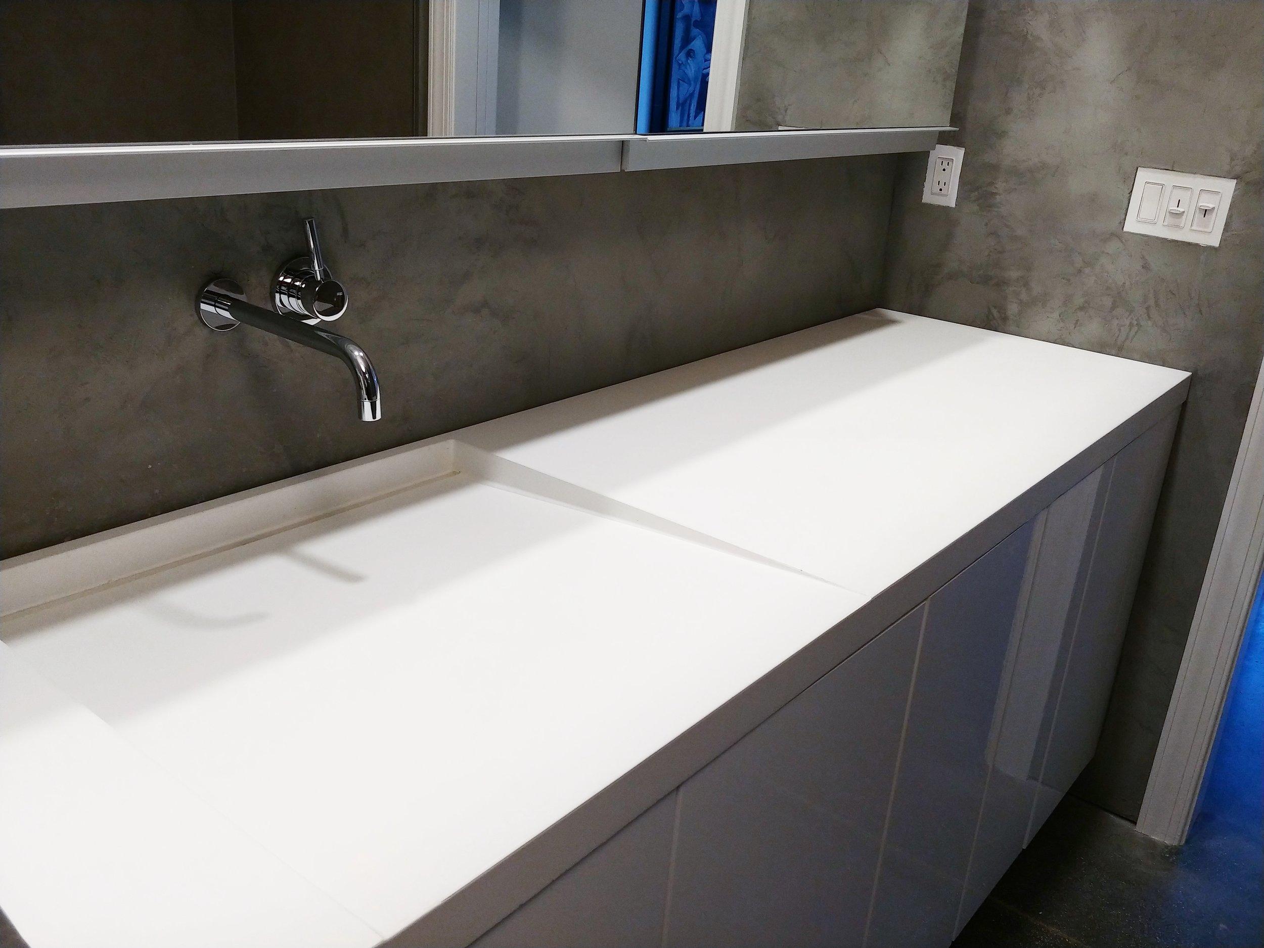Concrete Vanity Ramp Sink