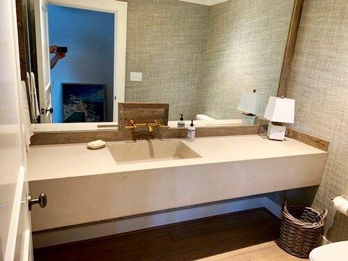 Floating Bathroom Vanity in Putty