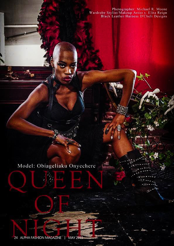 ALPHA MAGAZINE  OBI QUEEN of the NIGHT  Cover and EDITORIAL Layout