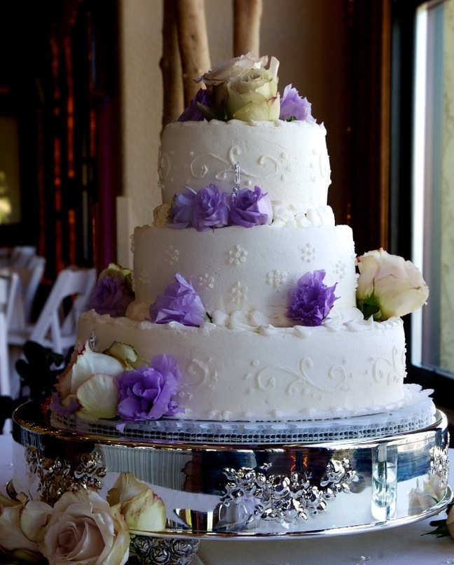 3 tier round stacked dark lavender and ivory .jpg