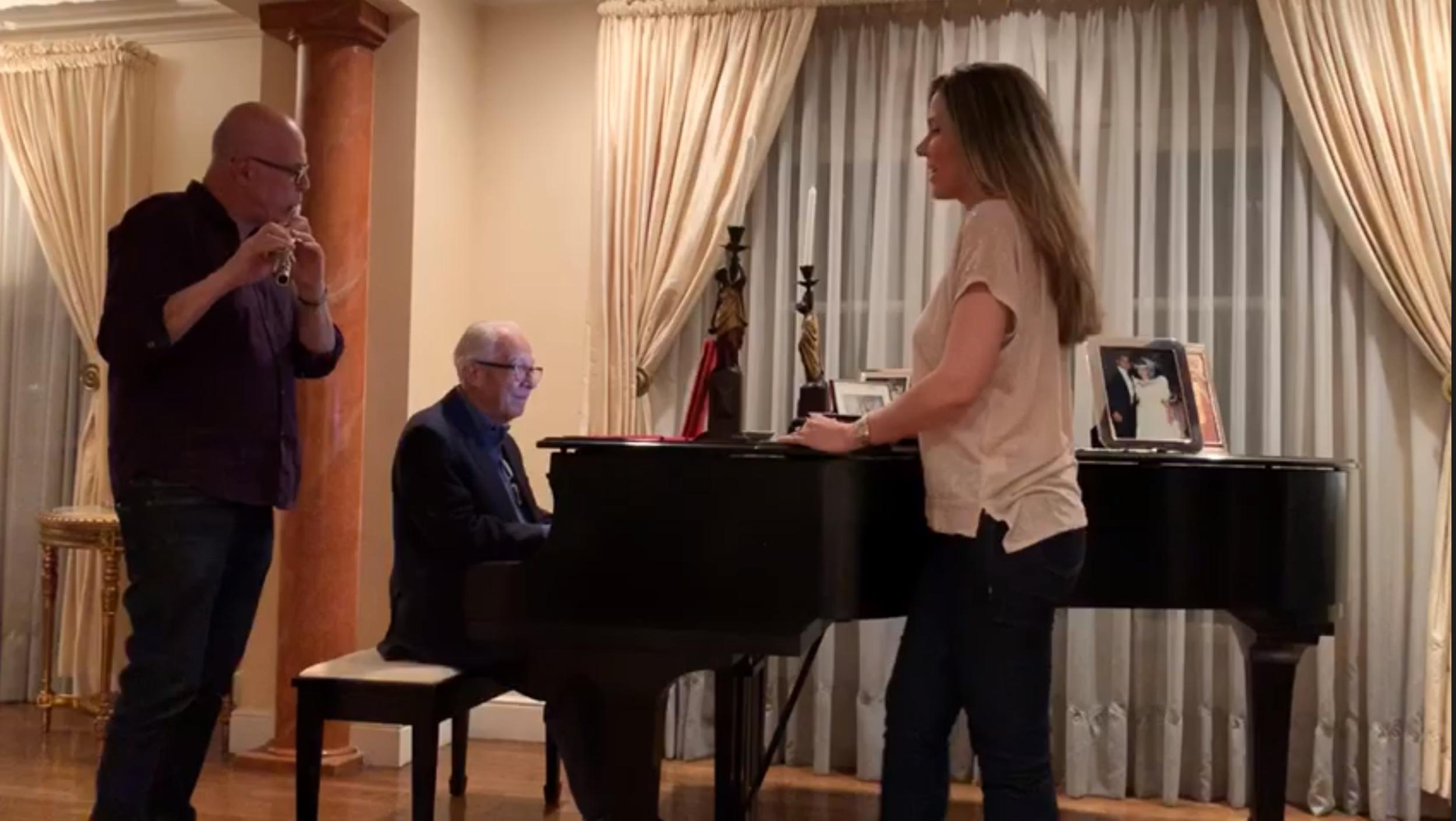 Maestro Jorge Calandrelli, Bob Sheppard and Maria jamming at Fernando Gelbard's residence, BH 2019
