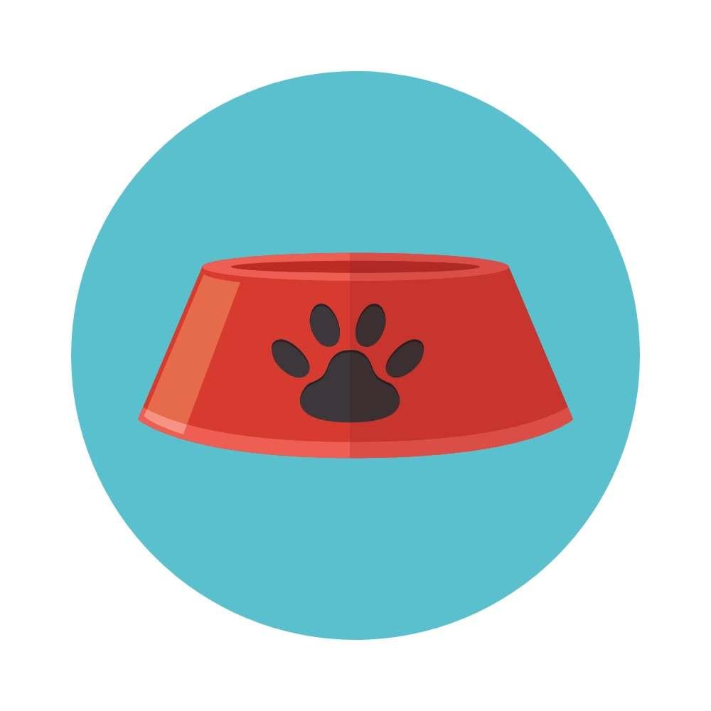 Dog Food Bowl Icon