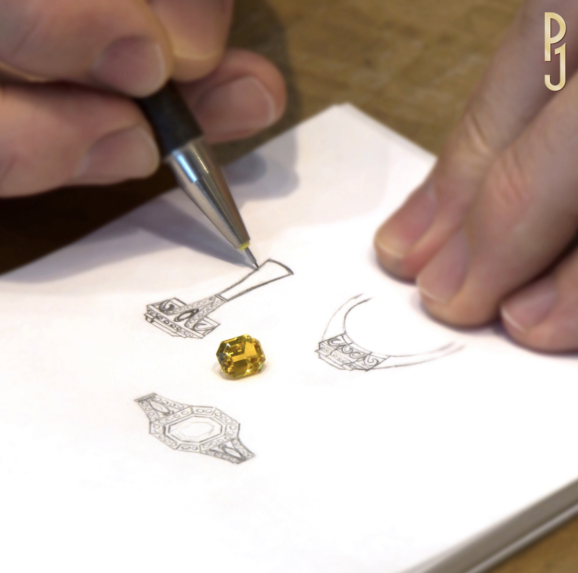 Custom-made Jewellery & Design - Philip is a master of handcrafting bespoke jewellery creations; engagement rings, dress rings, pendants and earrings are his specialty.Share with Philip you jewellery desires. The design process begins with a sketch and choosing the right stone for you.Perhaps you already have a stone that you would like made into a special piece.