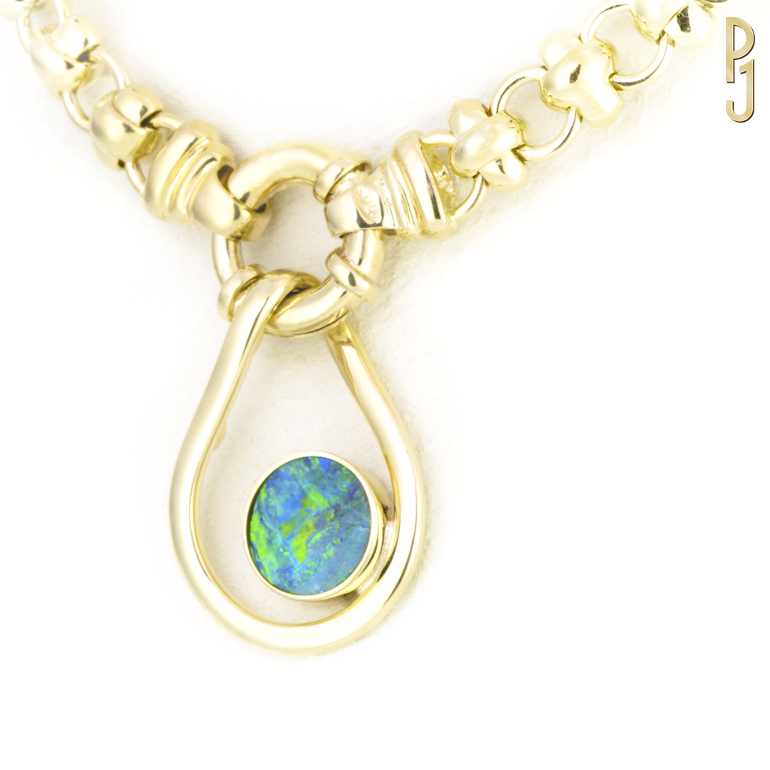 BOULDER OPAL - Pendant: Boulder opal set in 9ct. yellow gold.Origin: Winton QueenslandDesigned & handmade by Philip.