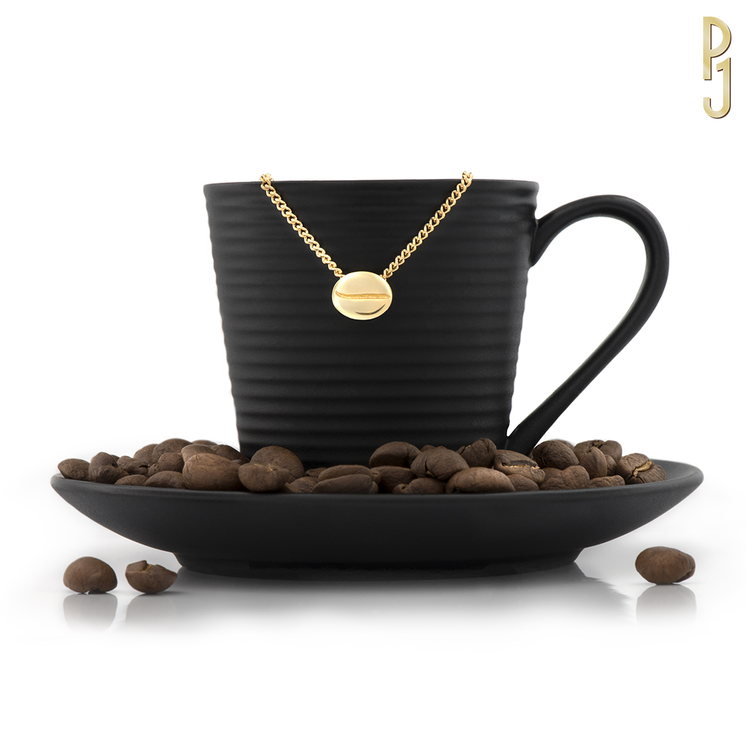 COFFEE BEAN - Available in 18ct or 9ct. white, yellow rose gold. Also platinum.