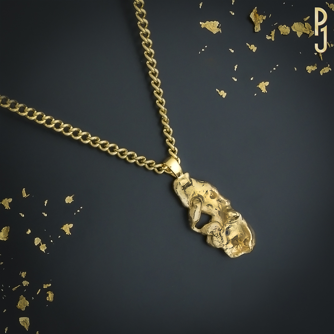 NUGGET PENDANT - Philip can create for you a unique gold nugget pendant. Another way to up-cycle your old or unwanted gold jewellery.
