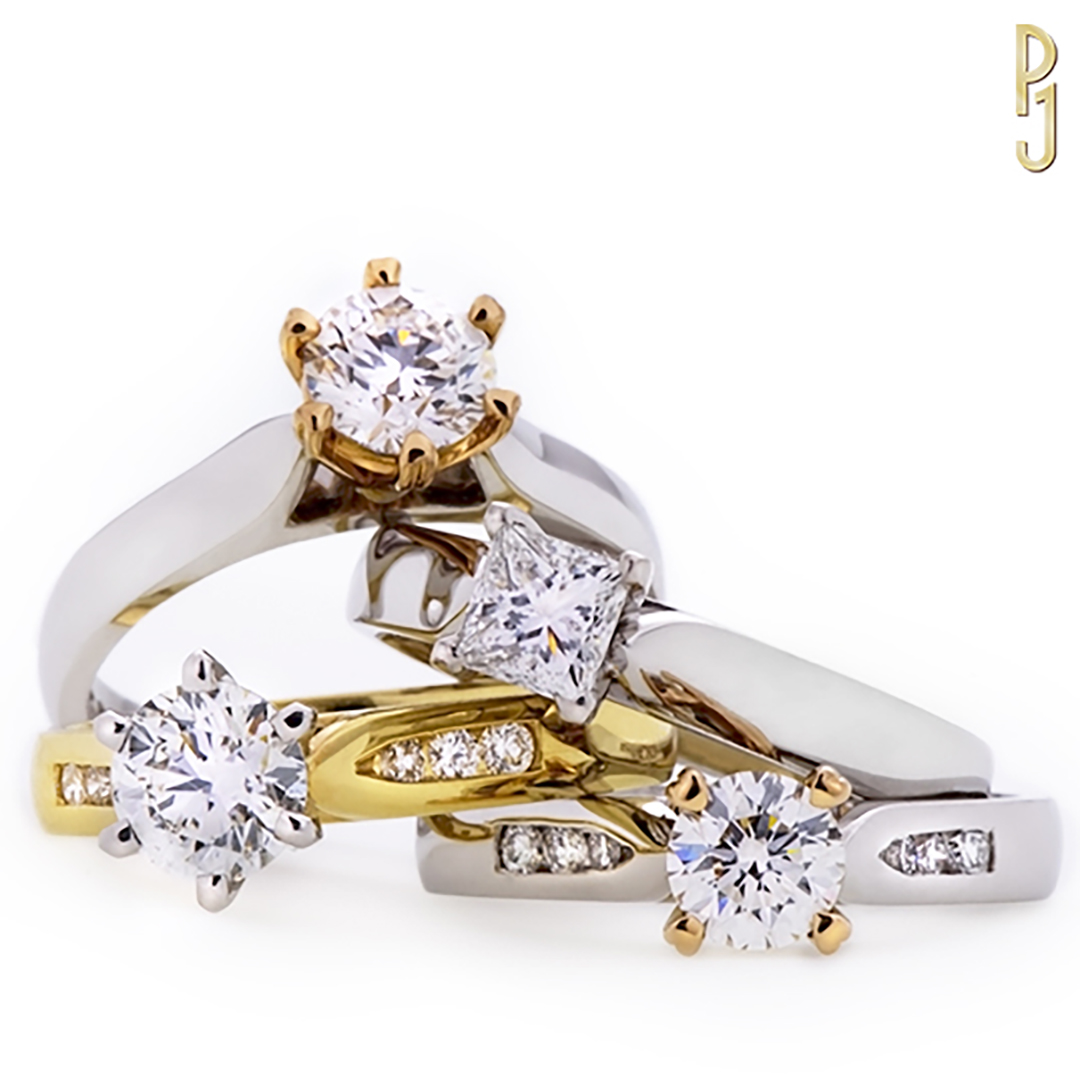 IDEAL SOLITAIRE - Options - Choose one or a use a combination of metals; yellow gold, white gold, rose gold or platinum. The quality and size of the centre diamond is also customisable to suit.