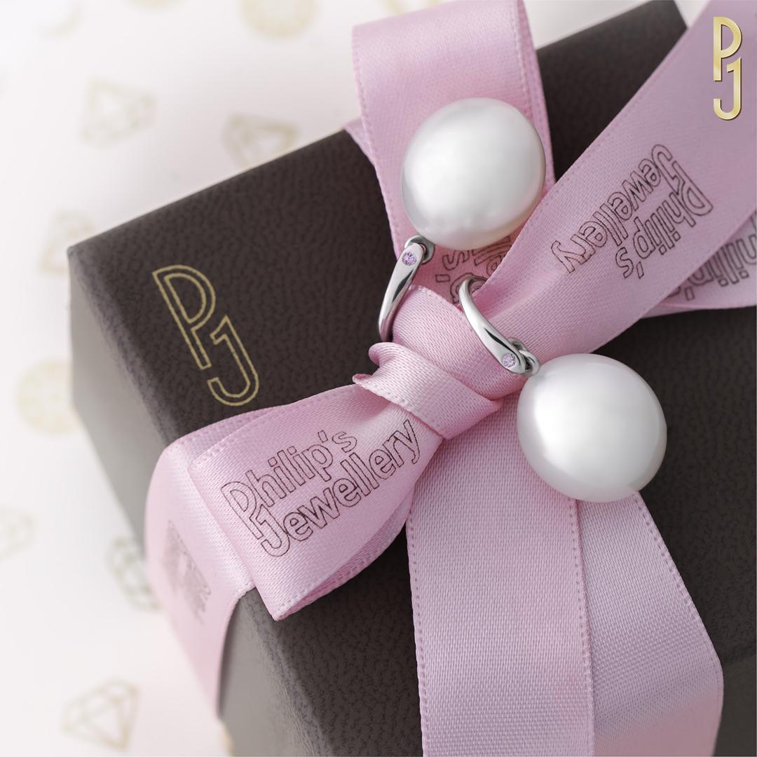 Pink Pearl Earrings on Box Web  DSC_8033.jpg