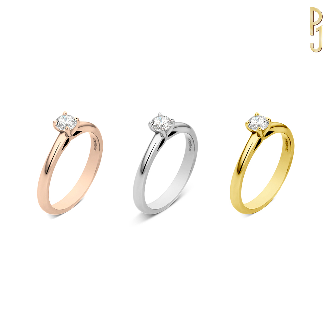 SIMPLE SOLITAIRE - Stunning simplicity.Set in four claws this elegant design showcases the diamond of your choice. Available in rose gold, white gold, yellow gold or platinum.Designed and handcrafted by Philip.