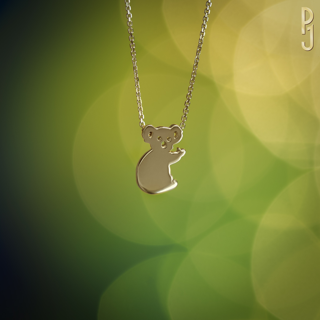 BABY KOALA - Available in 18ct or 9ct. white, yellow rose gold. Also platinum.