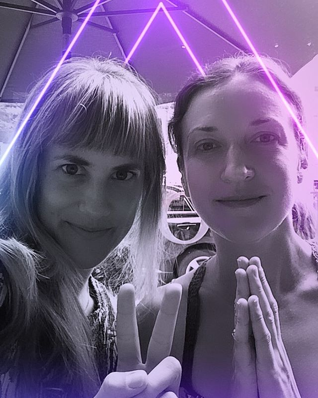 Catching up on some much needed bliss time with this amazing composer!  @madamekasia 🌈💫🙏