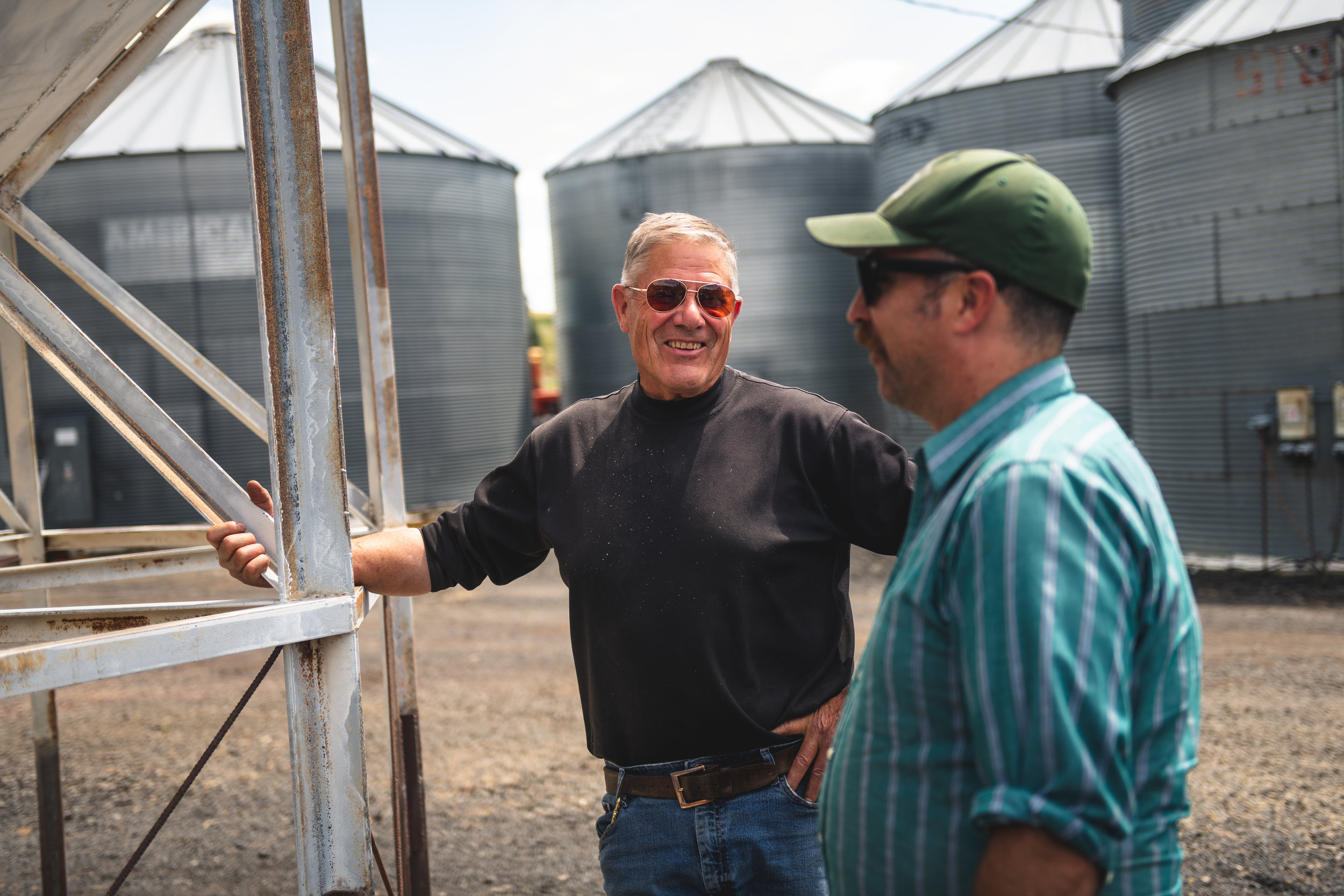 Bill and Brian of LINC inspecting grain storage