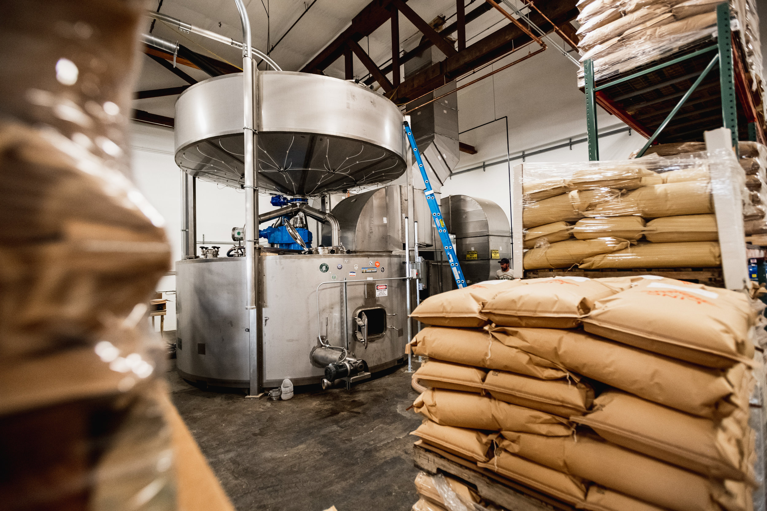 One of LINC Malt's systems for the malting process