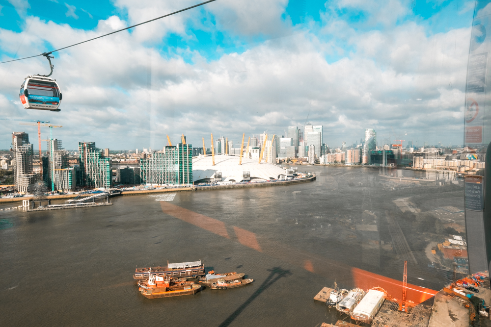 Ride the Emirates Airline Cable Cars in Greenwich