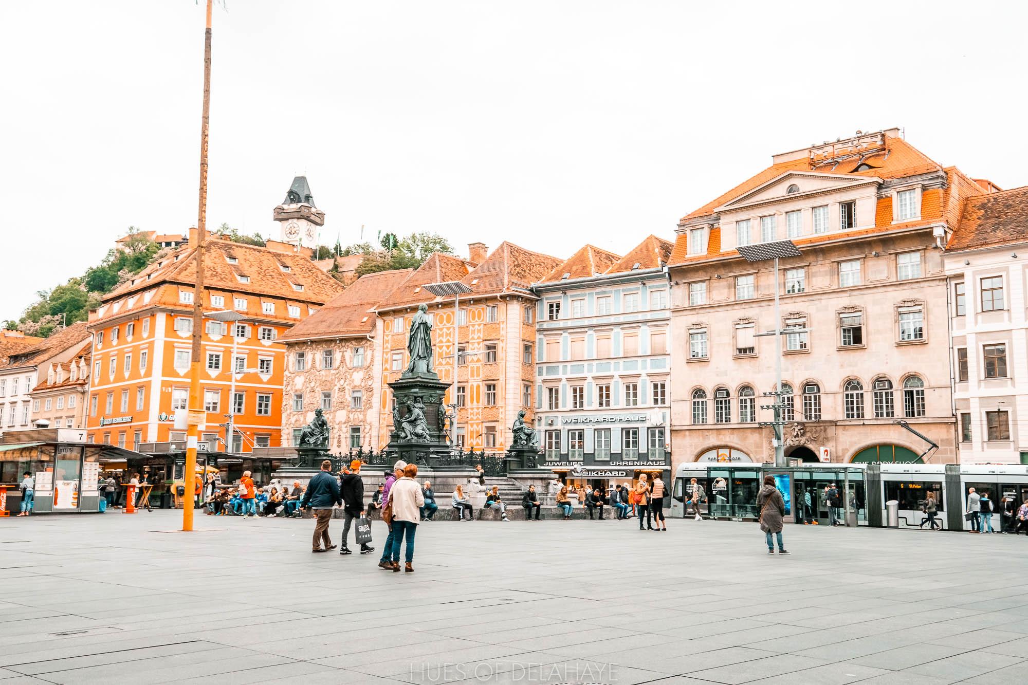 Things to do in Graz Hauptplatz (Main Square) and Herrengasse.jpg