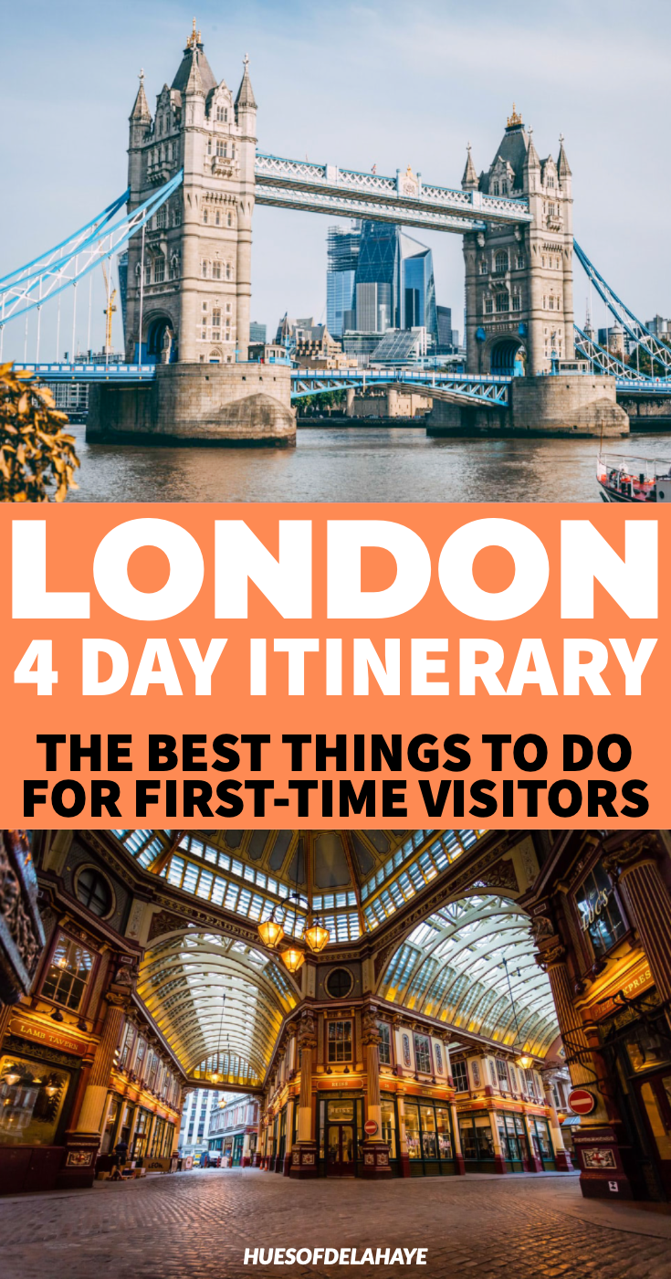 4 days in London itinerary for first-time visitors. In this 4 Day London itinerary I break down the best things to do in London on your London trip. Including iconic landmarks like Big Ben, Buckingham Palace, The Shard, The Sky Garden, fun London bucket lists activities like taking Harry Potter studio tour and visiting areas like Shoreditch, Soho, plus free museums like natural history museum London. Find out what to do in London in 4 days by a local #Londontravel #London #travel #travelguide