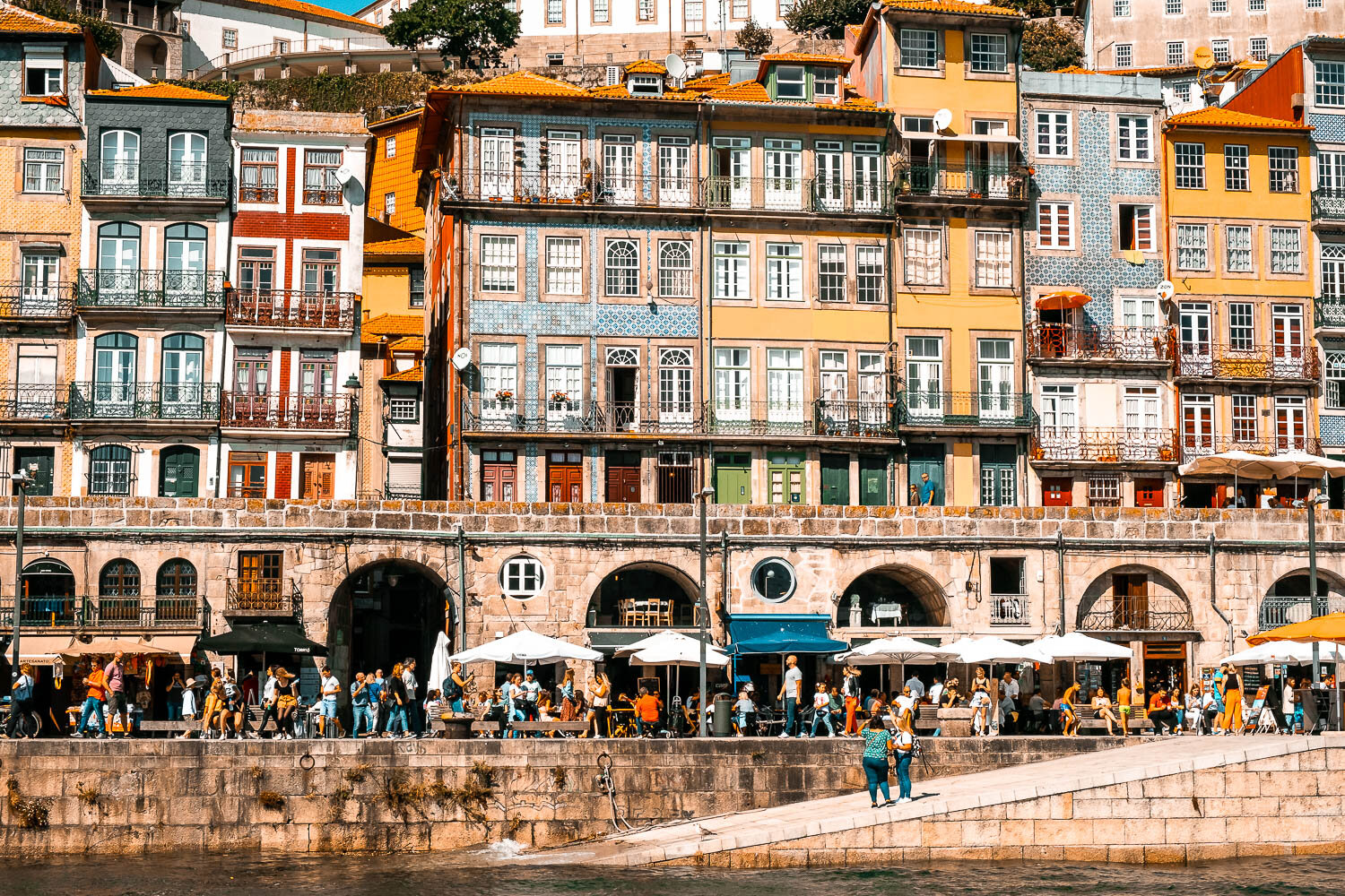 Cais da Riberia Ribeira District Porto Portugal.jpg