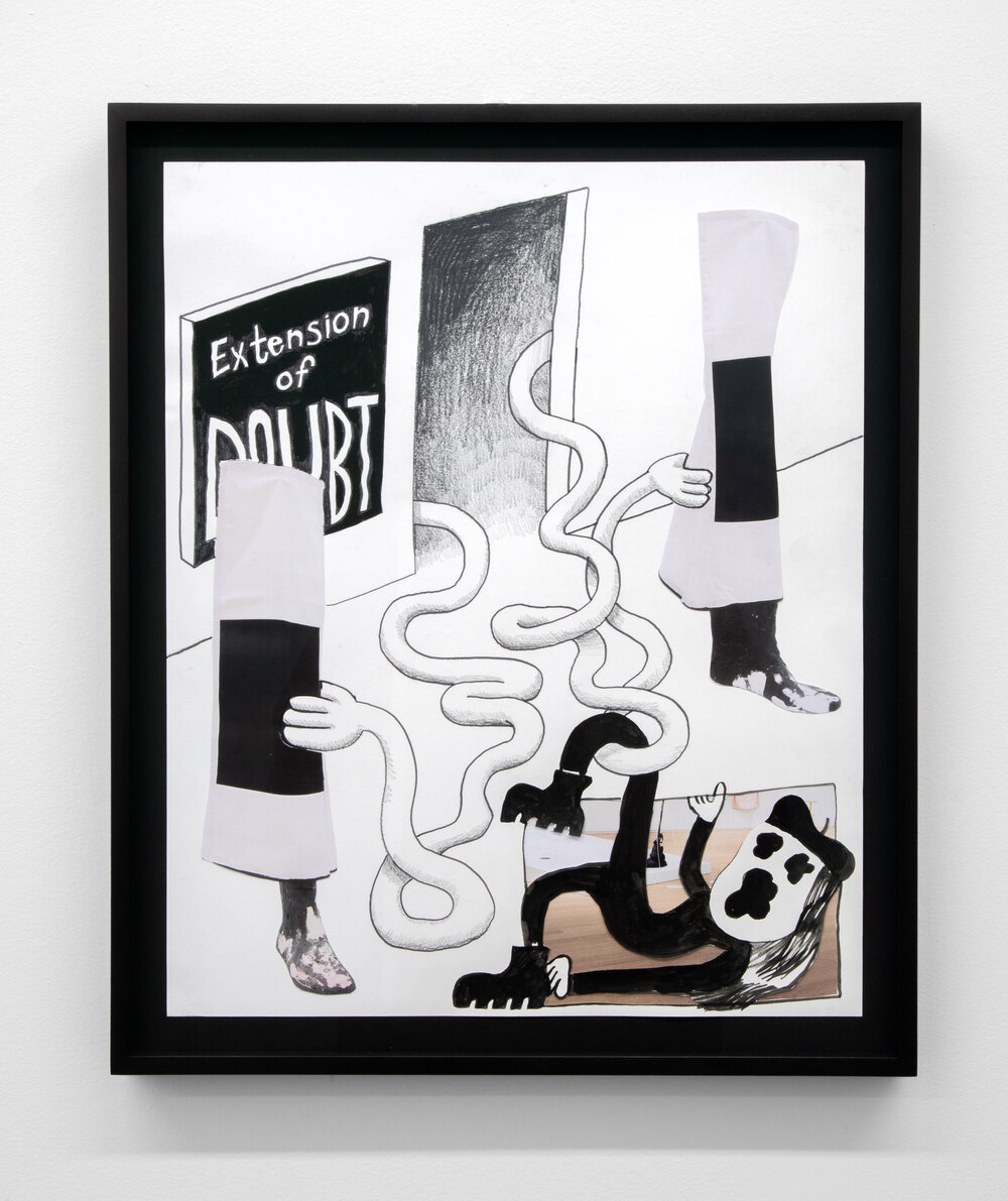 Walter Scott,  Extension of Doubt , 2019. Courtesy Cooper Cole Gallery.