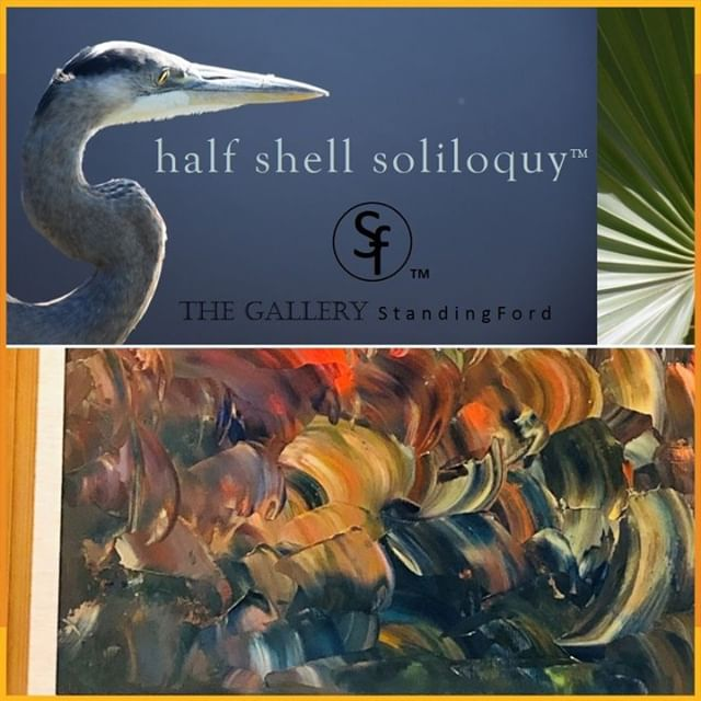 "We're happy to welcome The Gallery StandingFord as one of our #HHF2019 featured vendors! ""Local artist, Angela O'Neal, will have original pieces from her abstract expressionistic 'Half Shell Soliloquy'; a collection featuring her iconic sculpted oils that grasp the movement and depth of life's vivid landscapes on canvas."" Join us for two days of RIDES, FOOD, MUSIC, FAMILY FUN and MORE on OCT 19+20, 10a-6p https://habershamharvestfest.com #WonderFALL #HarvestFestival #BeaufortSC"