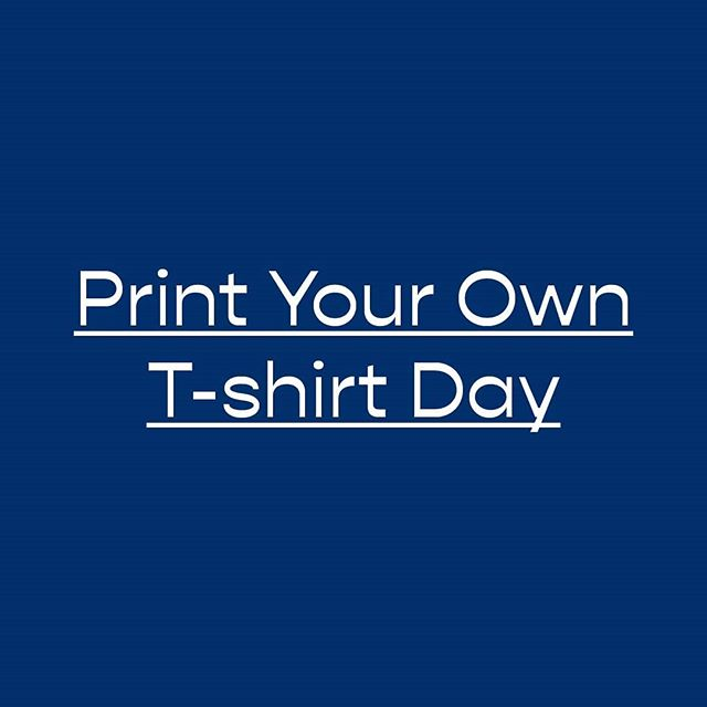"Have you heard about ""Print Your Own T-shirt Day""?⠀ We're giving you the chance to print any image on one of our t-shirts for just 100kr (t-shirt included). Visit us on Saturday 26 October between 11-15.00 to print that really embarrassing photo of your friend on a 100% organic cotton t-shirt. 👌 ⠀ *⠀ *⠀ *⠀ #malmöprintingco #sustainablefashion #screenprinting #malmö #mittmöllan #supportyourlocal #madeinmalmö #fashion #sustainability #mff #visitmalmö #dtgprinting #poster #posterprinting #tshirt #tshirtprinting #screenprint #malmöclothingco #designs #printshop"