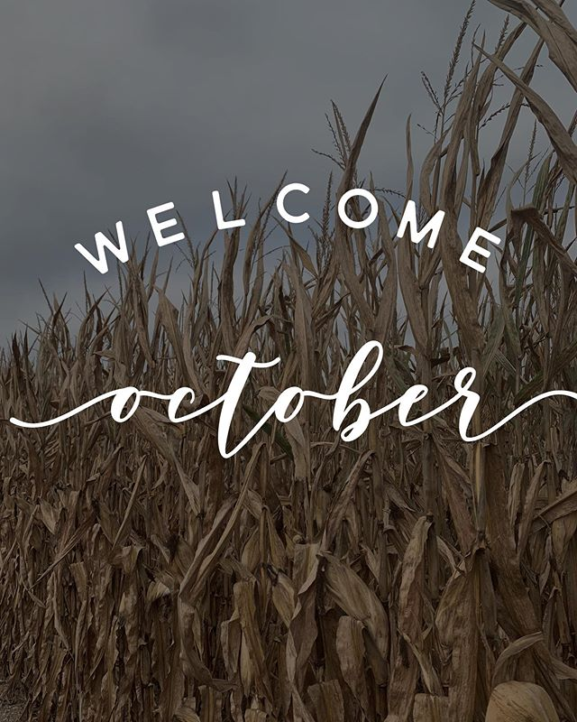 OCTOBER - the perfect pause between summer and winter.