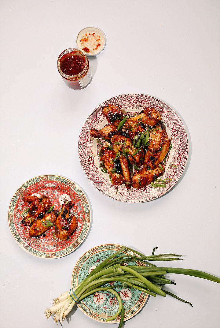 - Sticky, spicy, sweet & salty. These are our go-to weekday wings using our Chili Pepper jam; already packed with ginger root, garlic & apple cider vinegar you use the jam for a marinade & glaze.