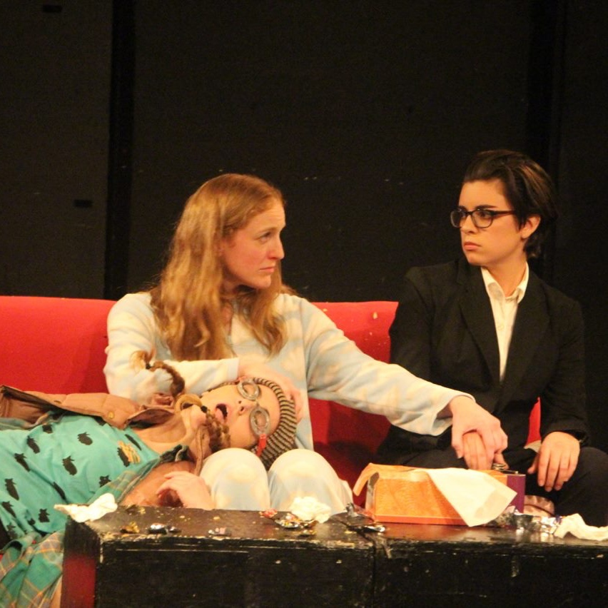 "Cassandra Paras, Sheila Williams, and Alia Guidry in ""The Triune Brain"""