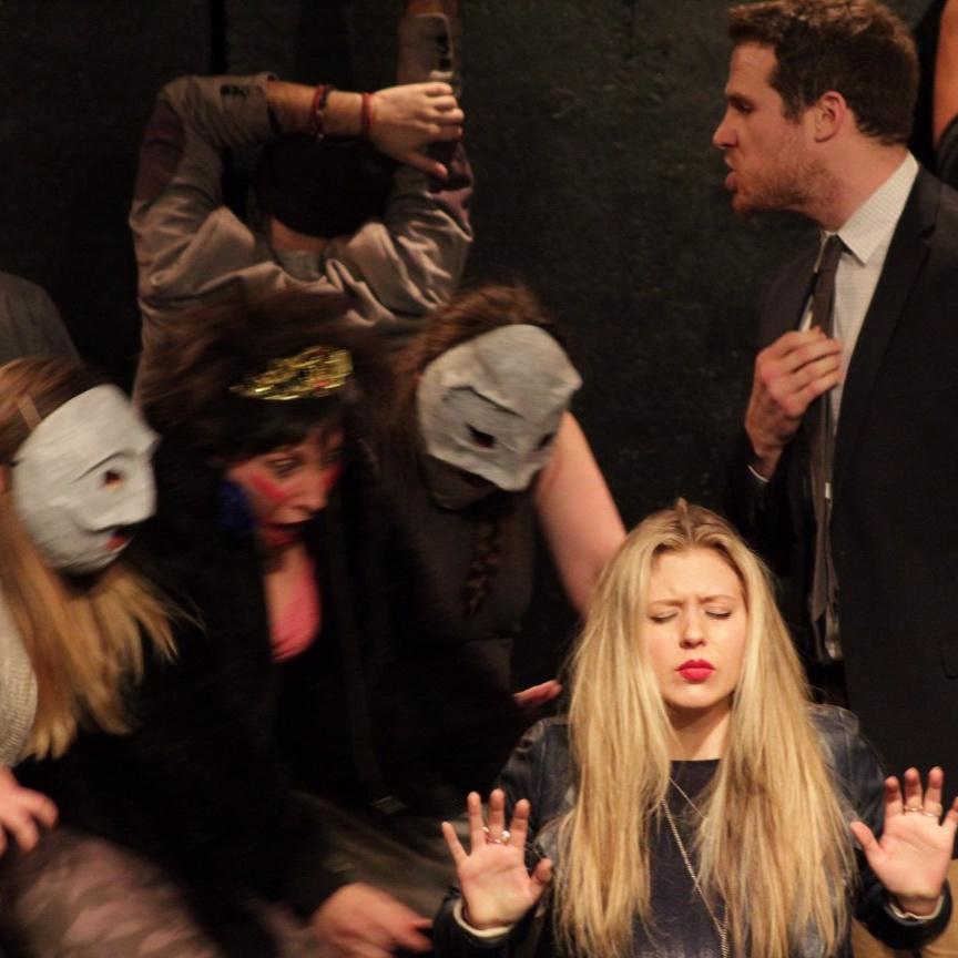 """Kristina Mueller, Jacqui Jarrold and Mike Hammond in """"Juniper Berries"""""""