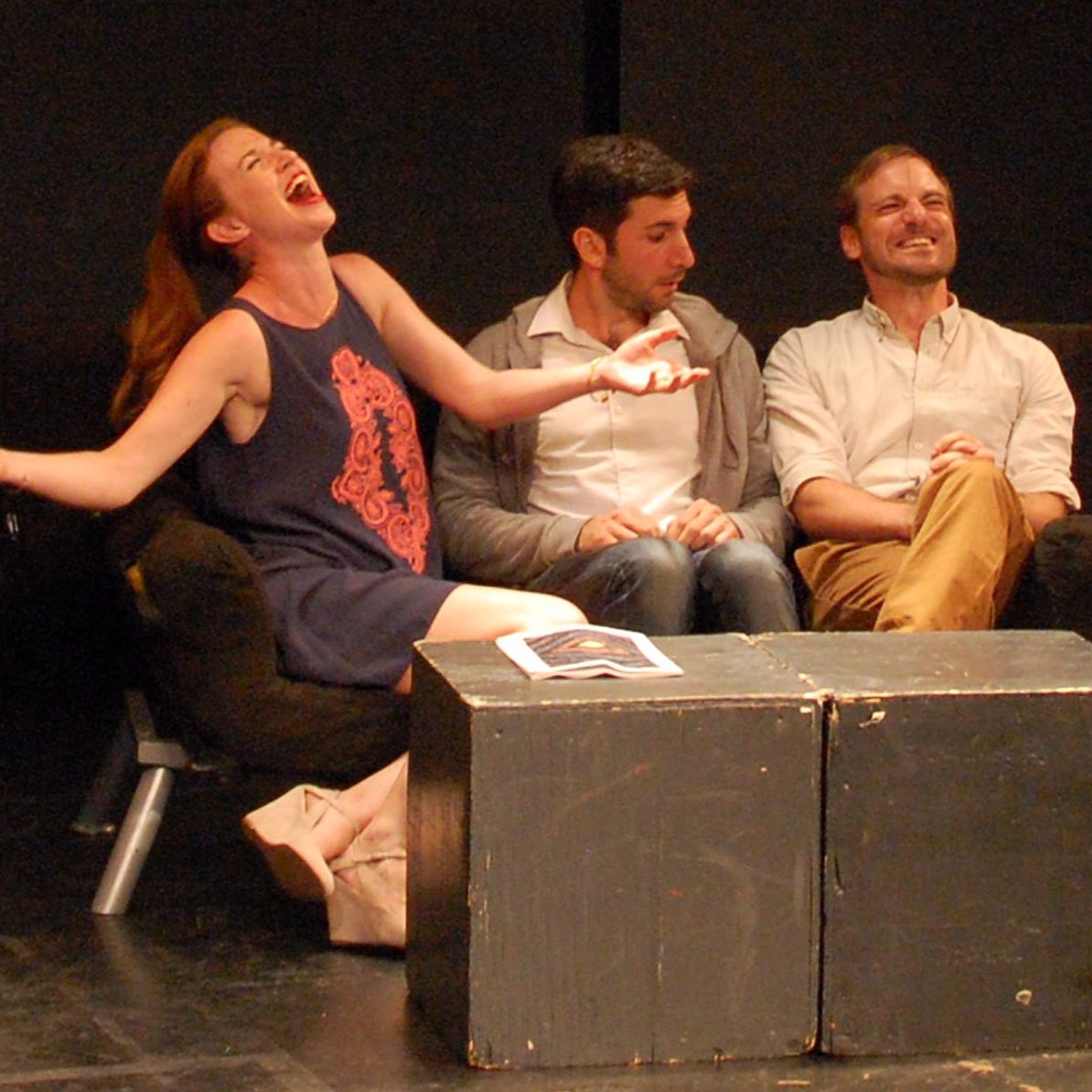 """Leigh Williams, Justin Yorio, and Michael Propster in """"The Loneliest Number"""""""