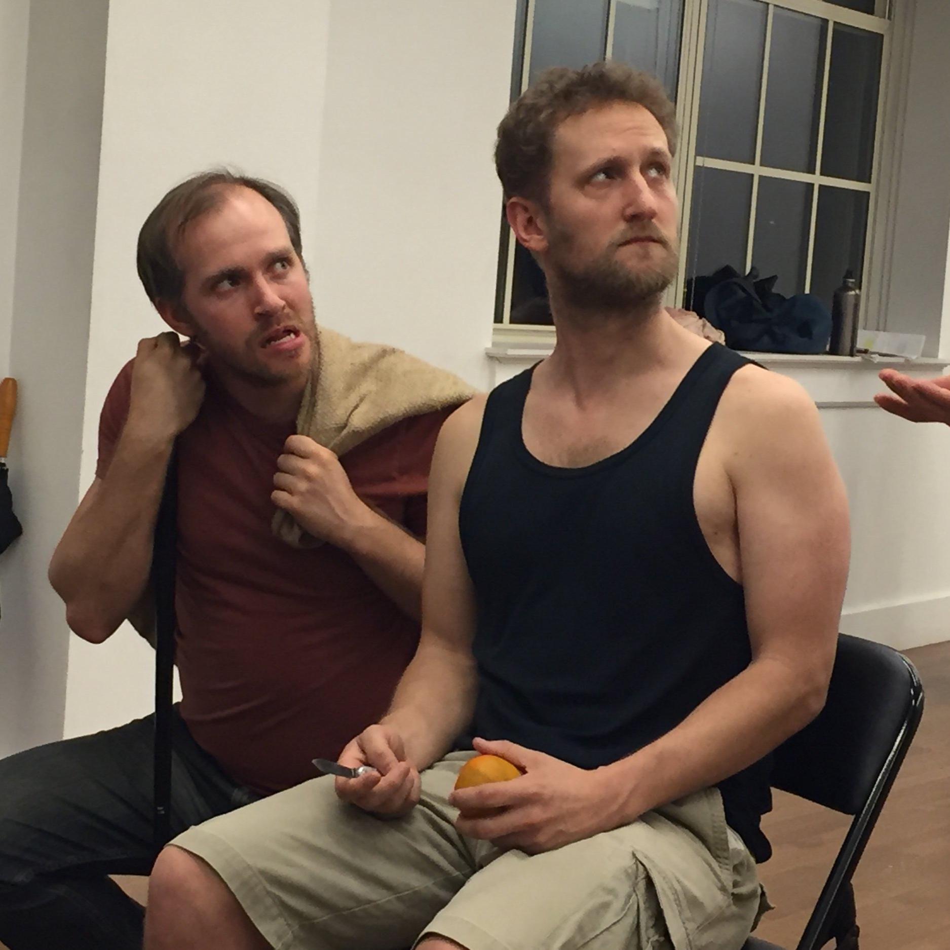 """Zac Hoogendyk and David Rudi Utter in """"Breadcrumbs"""""""