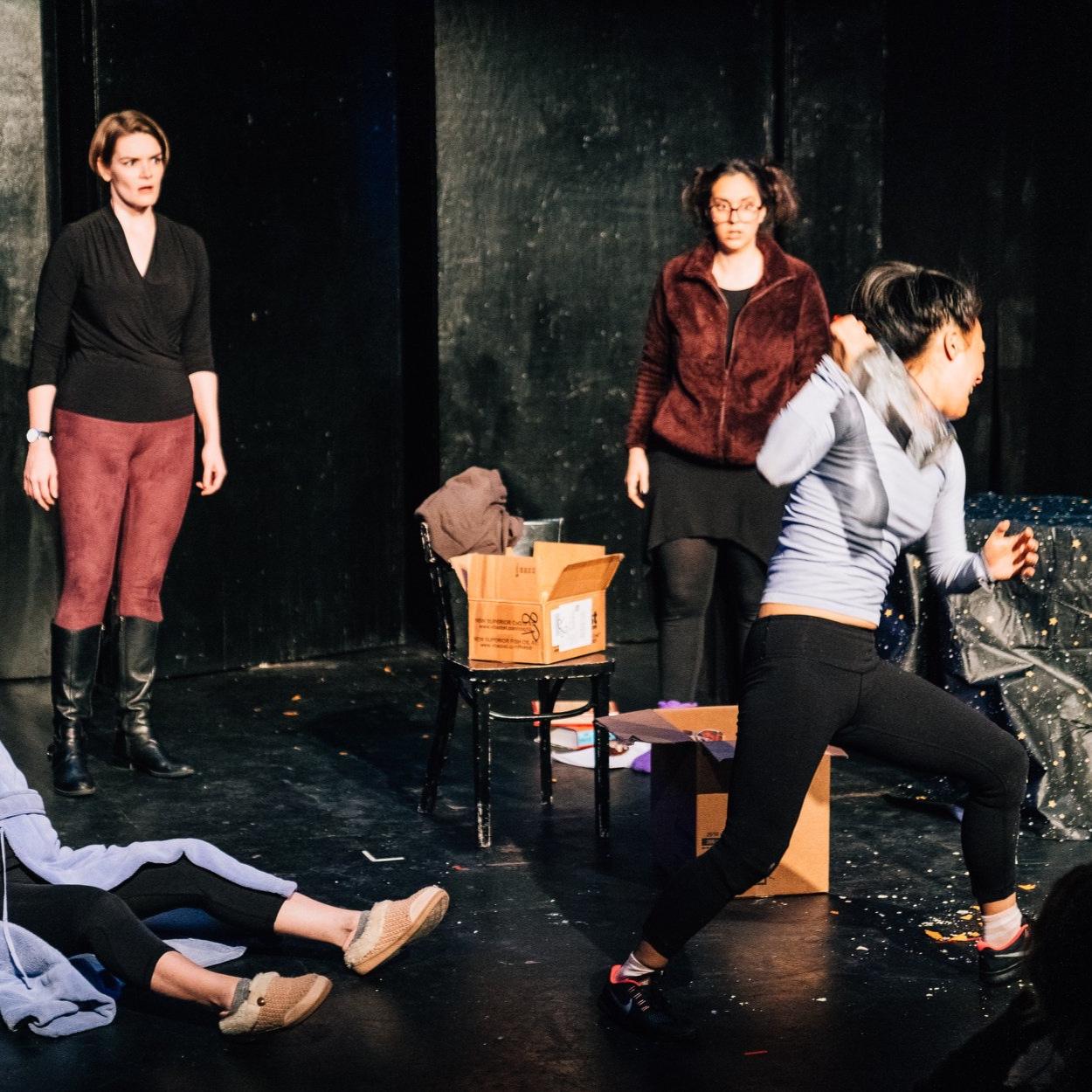 """Caitlin Doyle, Jojo Ginn, and Christina Liang in """"The Triune Brain"""""""