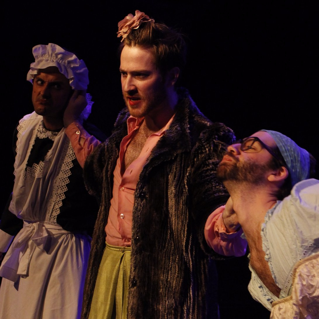 """Taylor Hilt Mitchell, Patrick Andrew Jones, and Doug Goldring in """"Pater Familias"""""""
