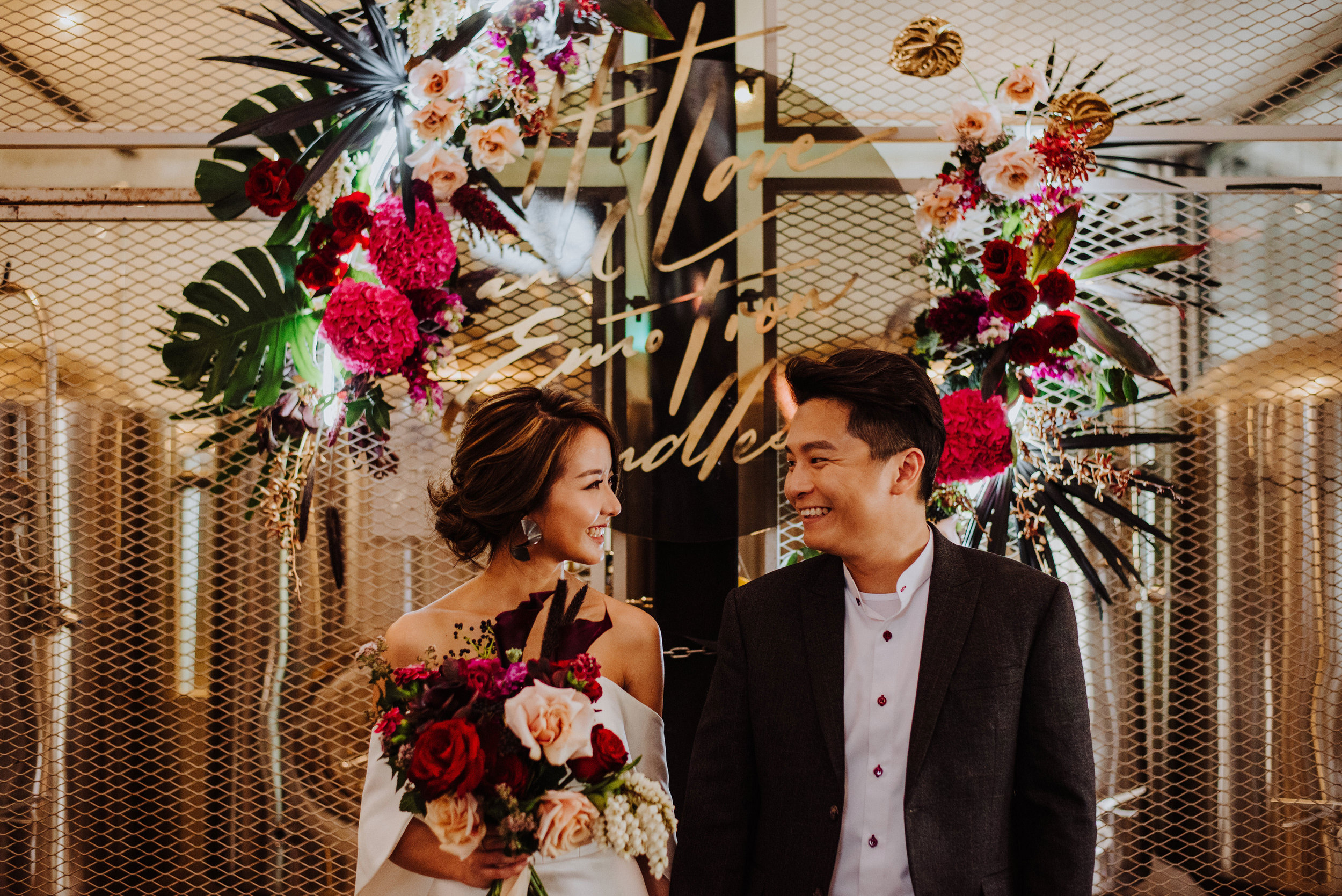 MOODY TROPICAL LITTLE ISLAND BREWING CO WEDDING STYLED SHOOT