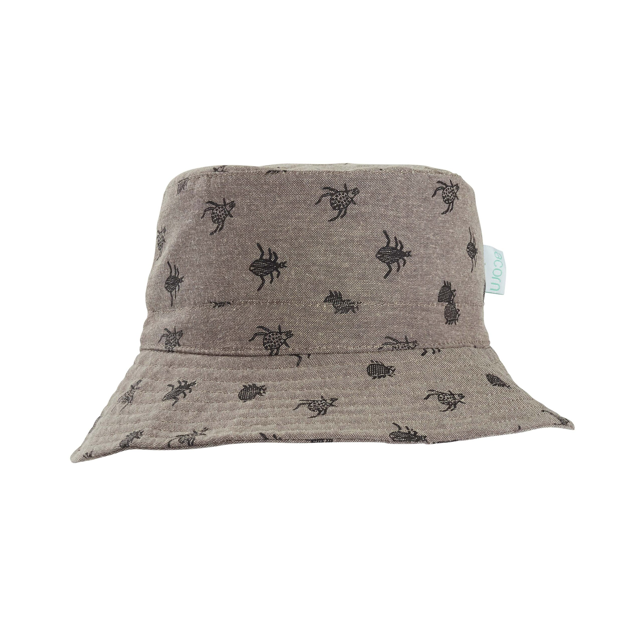 Astor Accessories Baby Boys Chambray Reversible Bucket Sun Hat