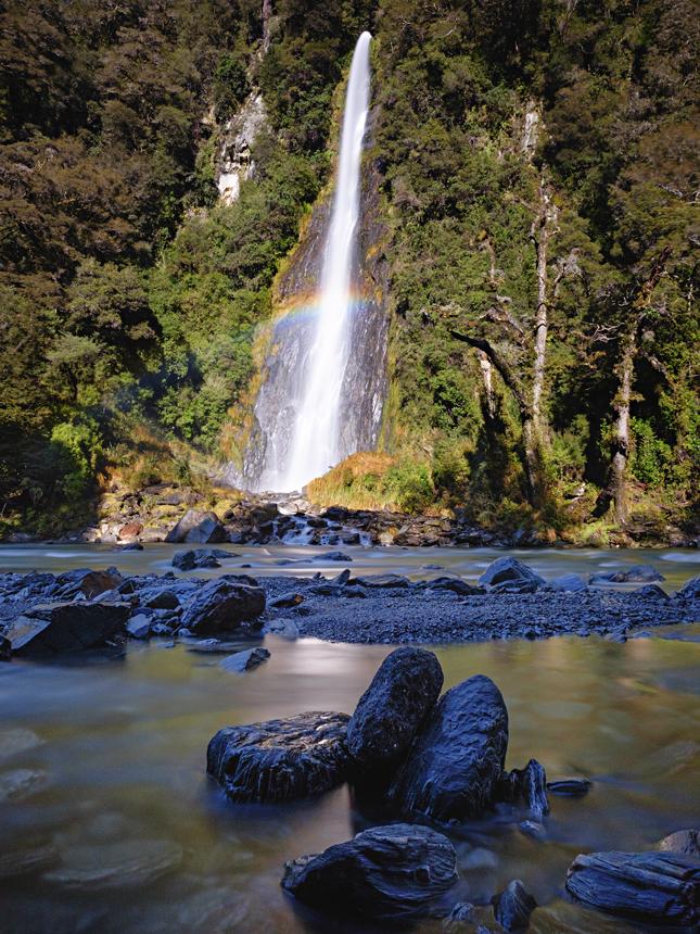 spectrum - Thunder Creek Falls, New Zealand