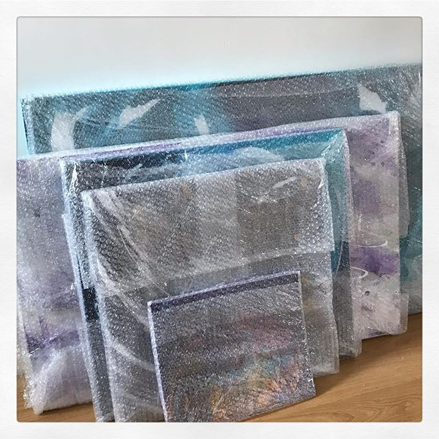 All packed up and ready for collection. . . . . . . . #acolourstory #artistlife #artcollector #artcurator #hampshireartist #showyourwork #abstractexpressionism #abstractartist #abstractart ##artwatcher #abstractartwork #instagramartist #artistoninstagram #mixedmedia #contemporaryart #abstractanna #acrylicart #artgallery #originalartwork #instaartist #instaart #instaabstract #passioncolorjoy #originalpainting #colourcompanion #abstract_post #abstractartorg #artforthehome #arttherpy