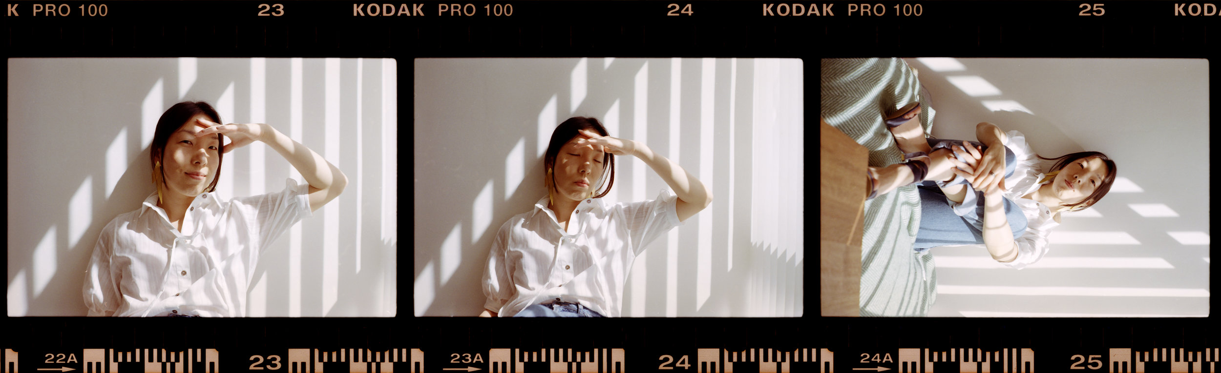 Film strip 35mm contact sheet portrait
